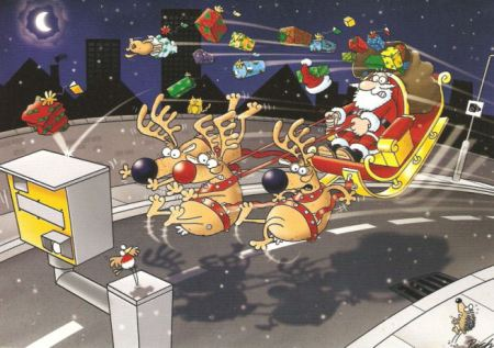 Santa and the Speed Camera!