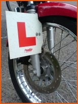 Motorcycle L-Plate